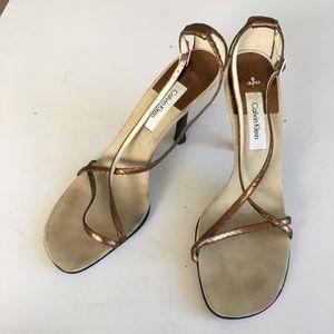 Calvin Klein Rachel strappy Sandals bronze